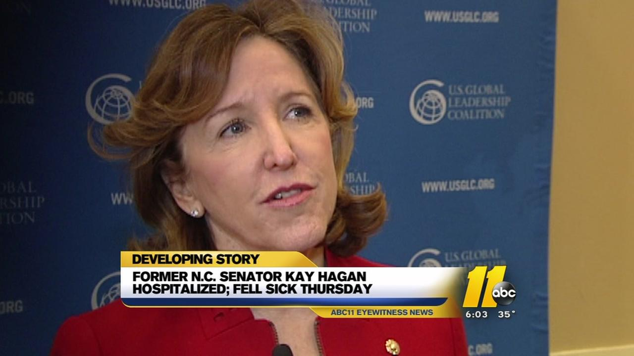 Kay Hagan, former NC senator, hospitalized