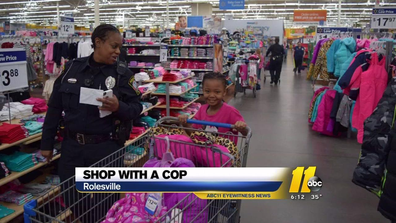 Shop with a cop in Rolesville