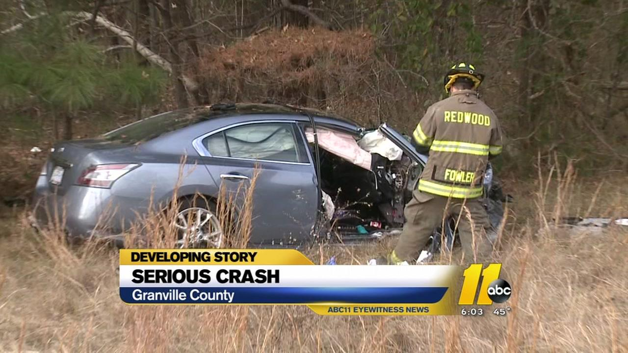 Two injured in serious crash in Granville County