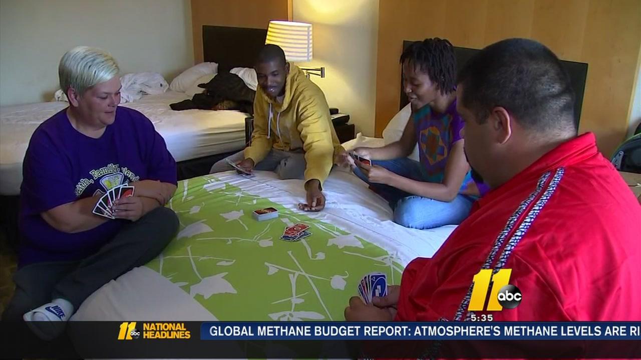 Months after Matthew, family still stuck in a hotel