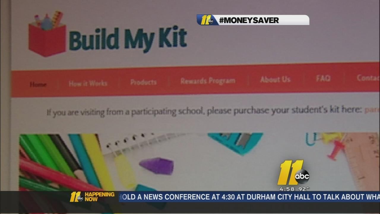 Online school supply shopping with Build My Kit