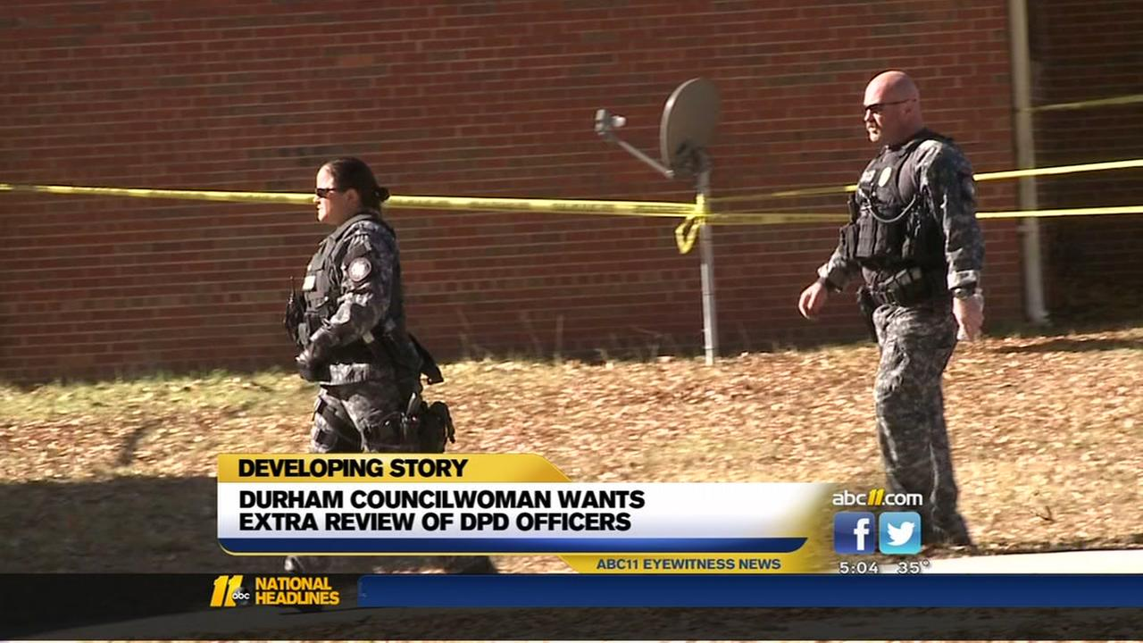 Durham councilwoman wants extra review of DPD officers