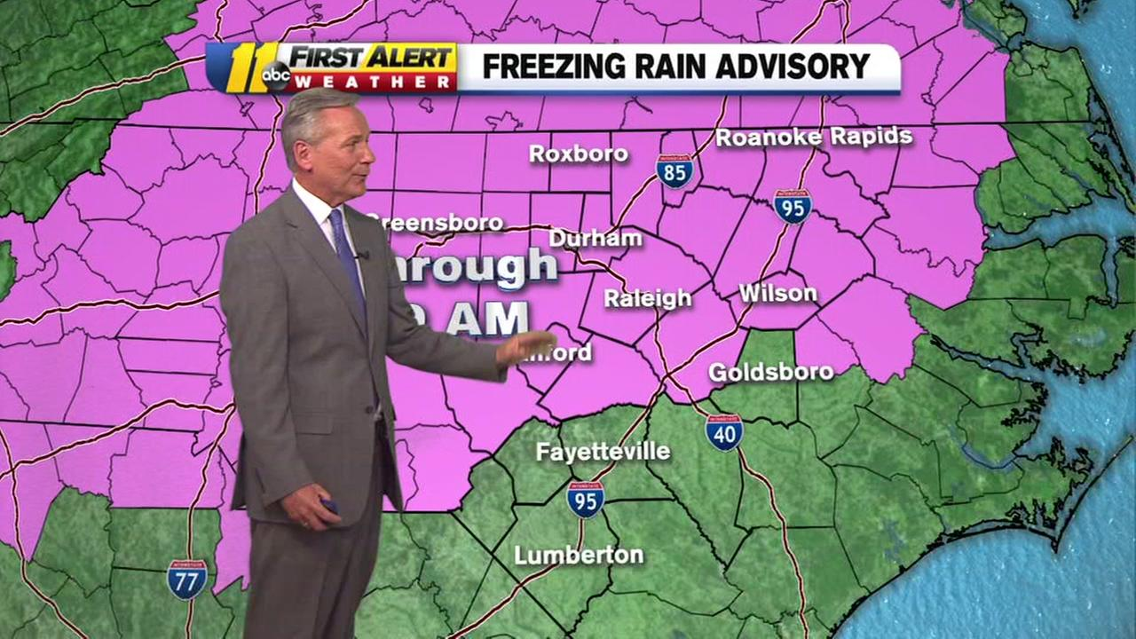 Freezing rain advisory in effect