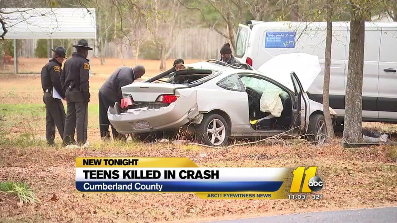 Teens killed in Cumberland County crash