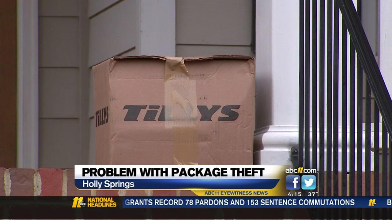 Holly Springs neighborhood sees increase in package theft