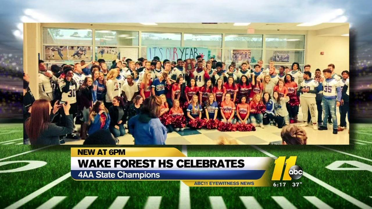 Wake Forest High School celebrates state title