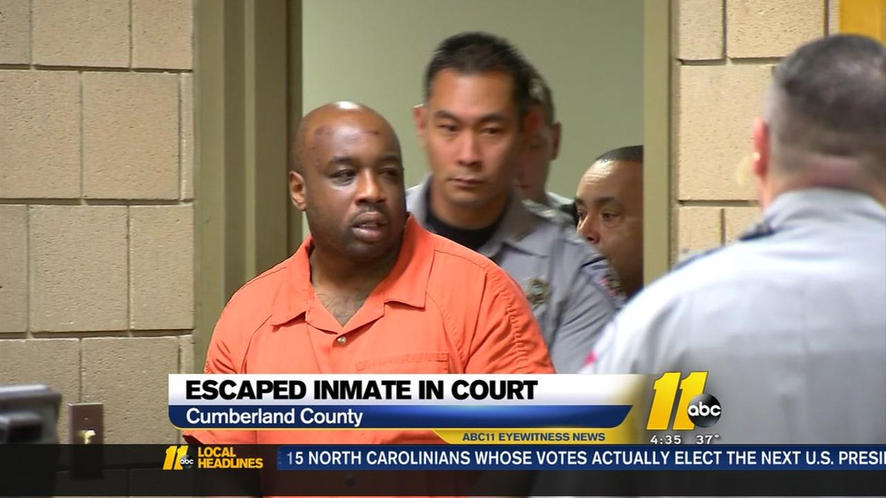 Escaped inmate in court