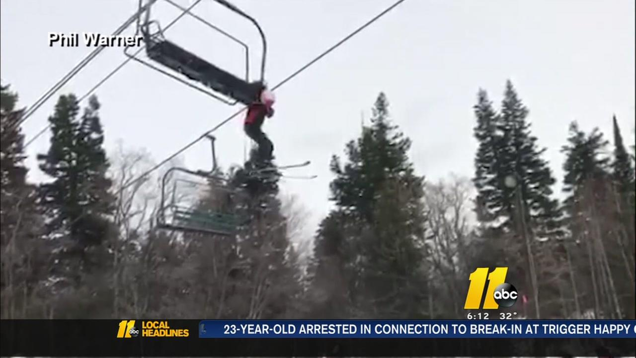 Dangling boy rescued from Utah ski lift