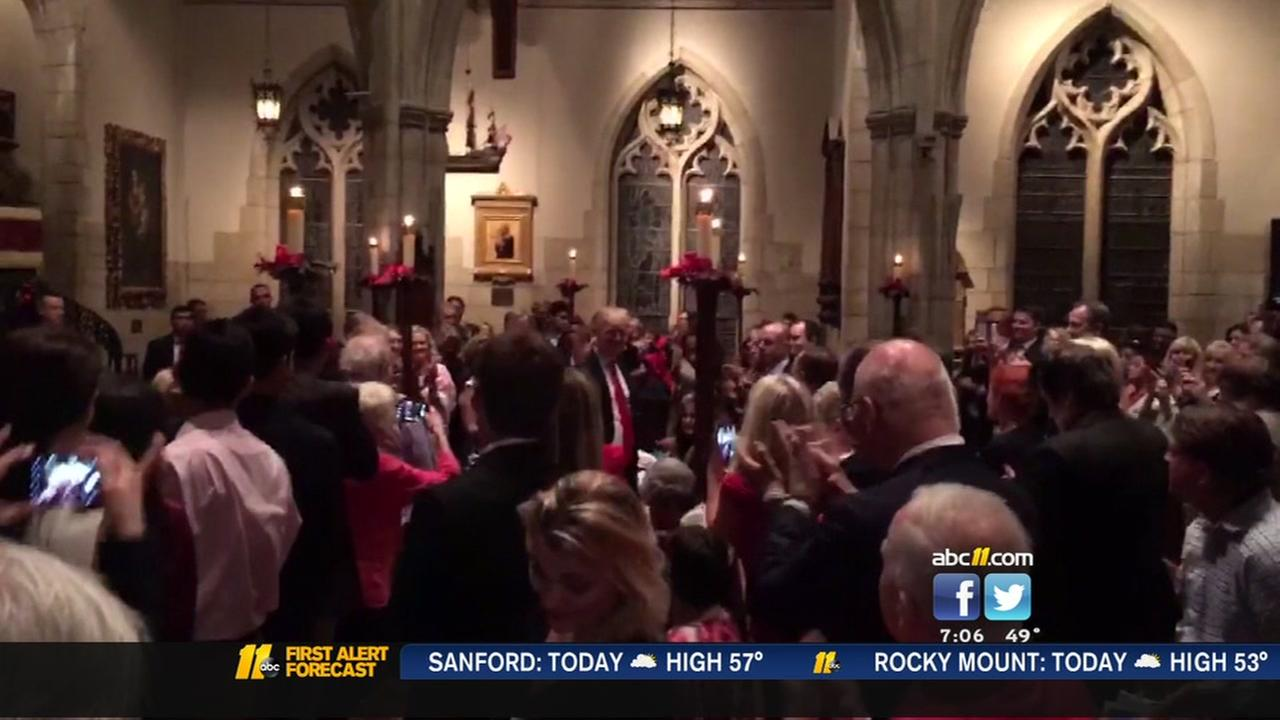 President-elect Trump attends Christmas mass
