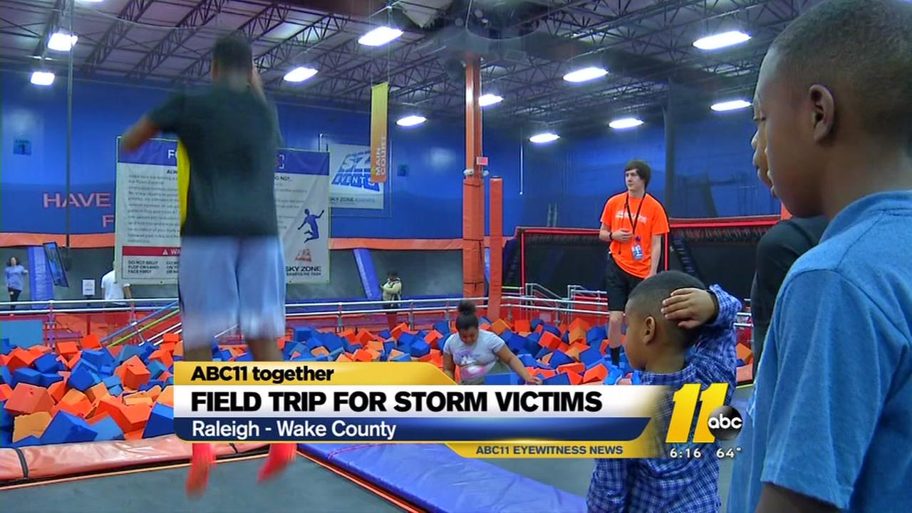 Field trip for storm victims