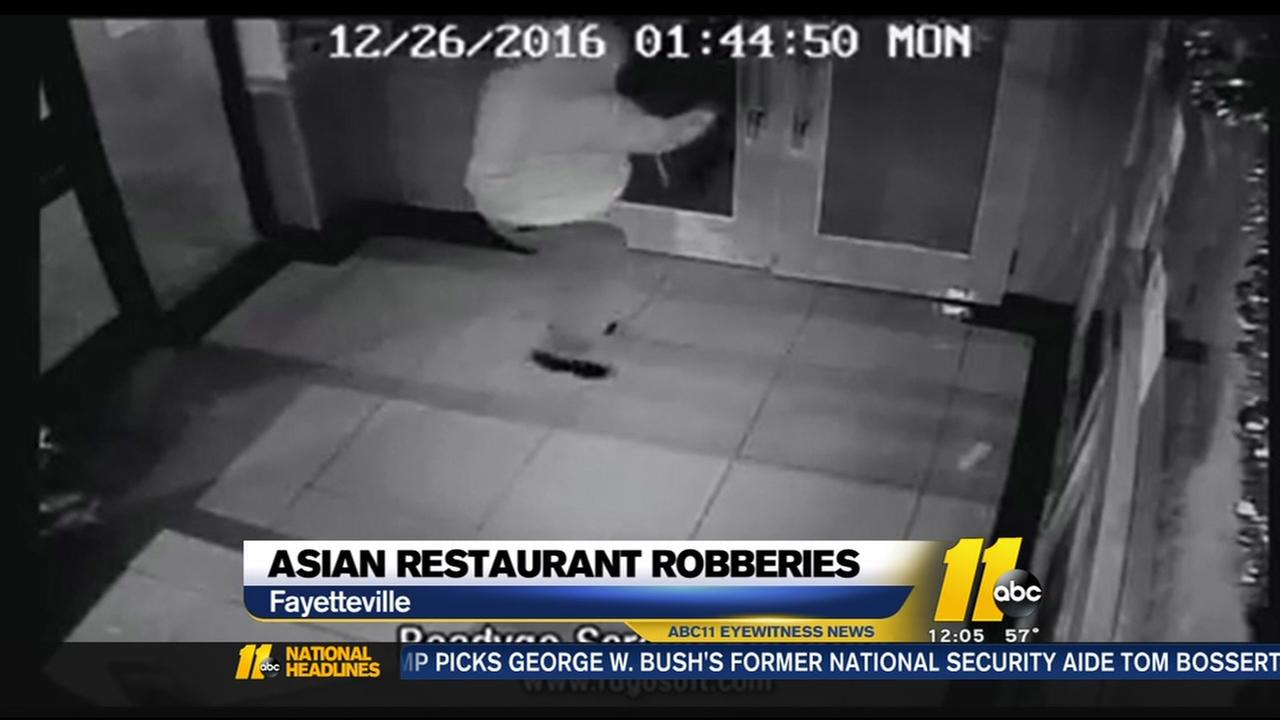 Fayetteville police seeking suspect in 6th restaurant burglary
