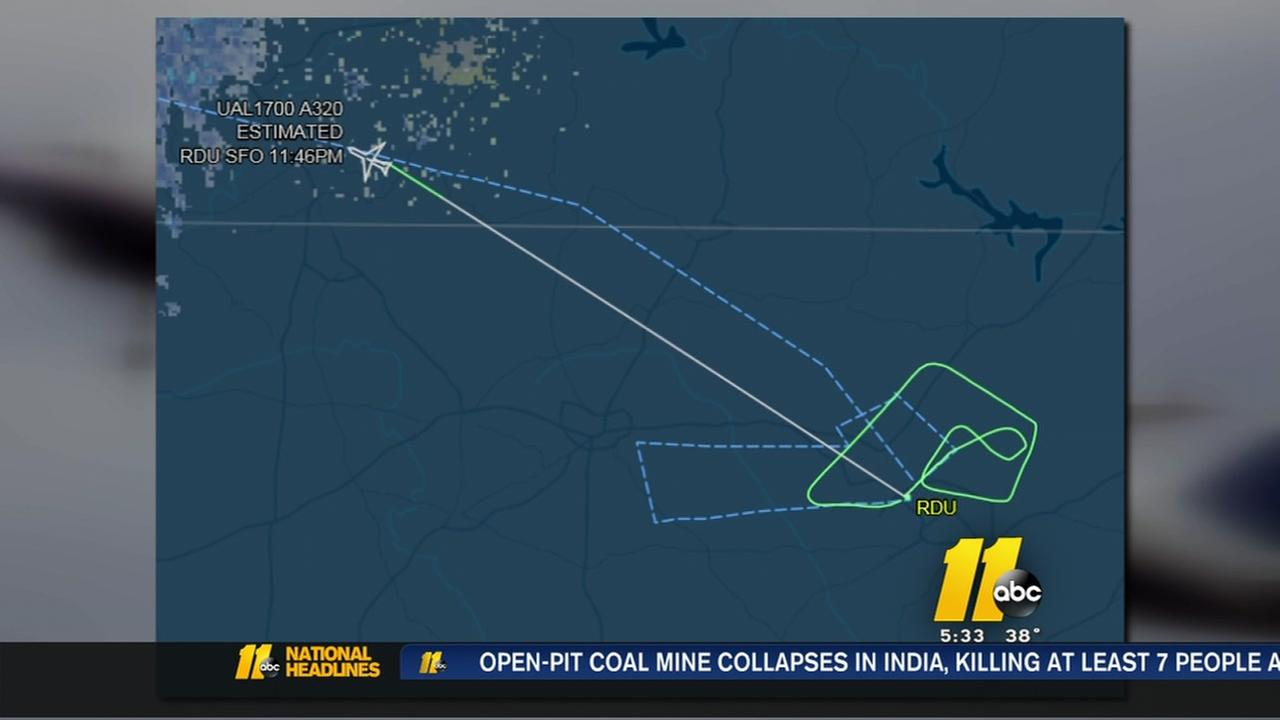 Mechanical issue forces flight back to RDU