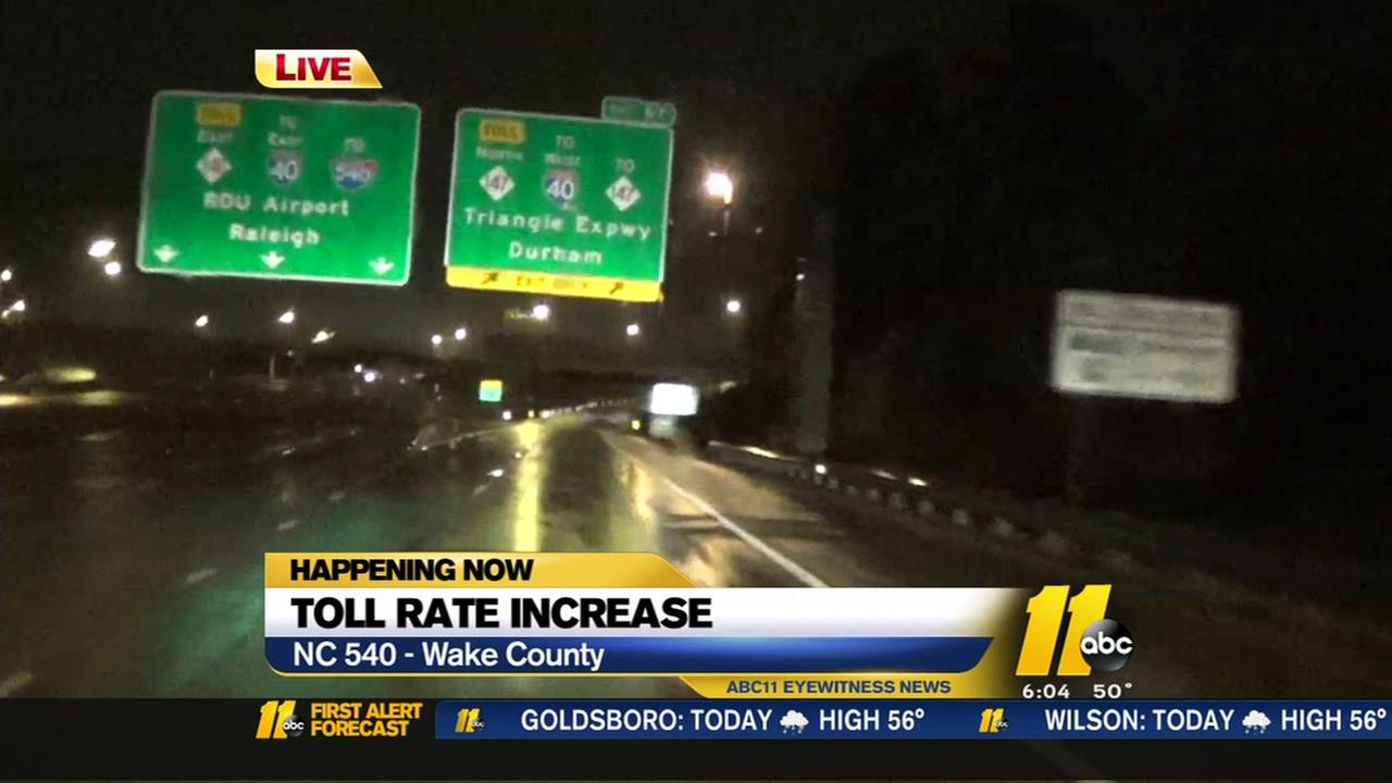 Triangle Expressway toll rates rise in the New Year