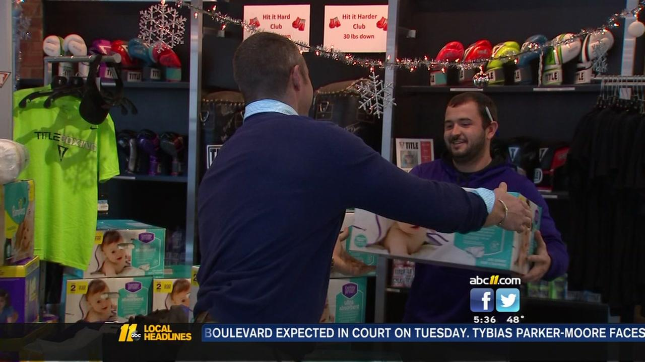 Triangle groups collects over 16,000 diapers and wipes for families in need