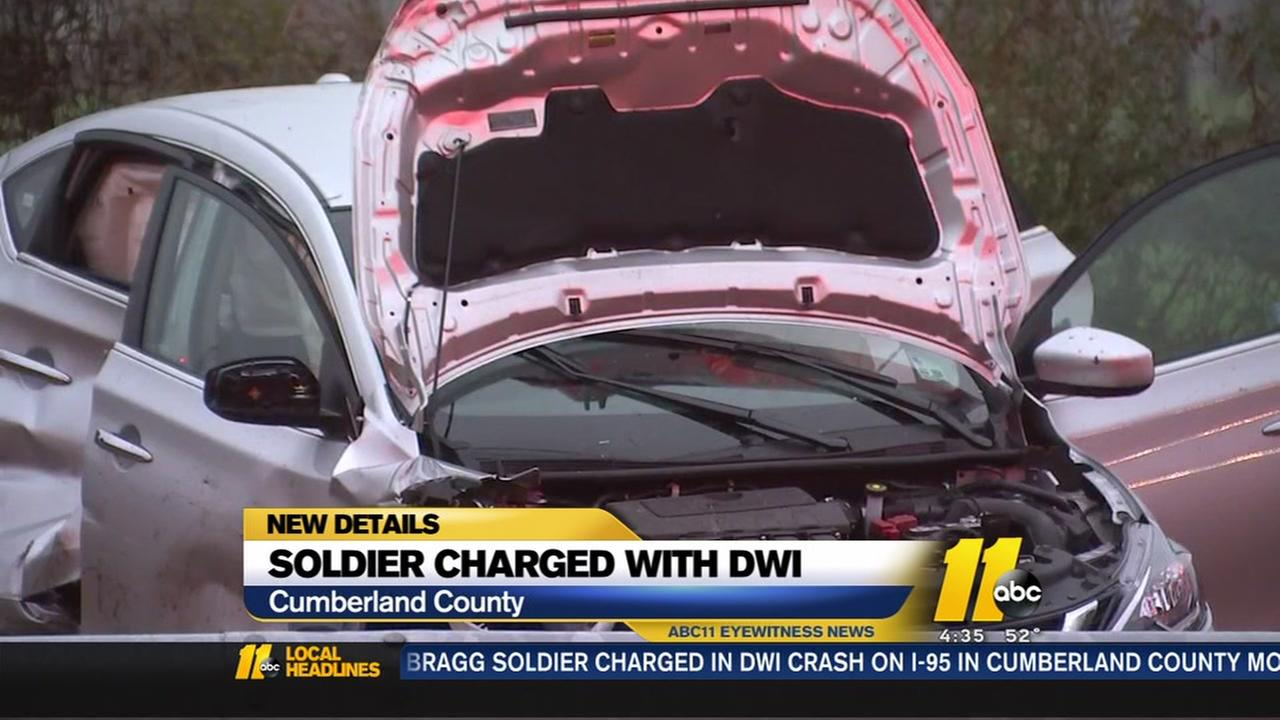 Soldier charged with DWI