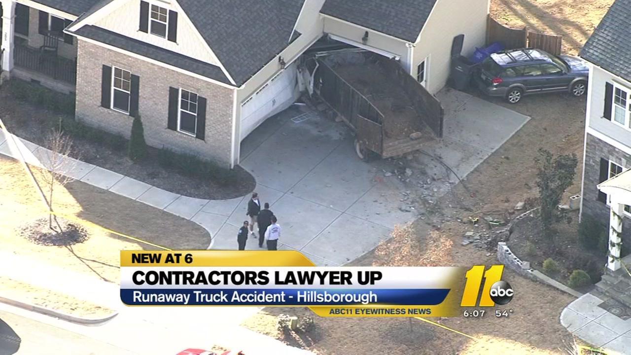 Contractors lawyer up in runaway truck case
