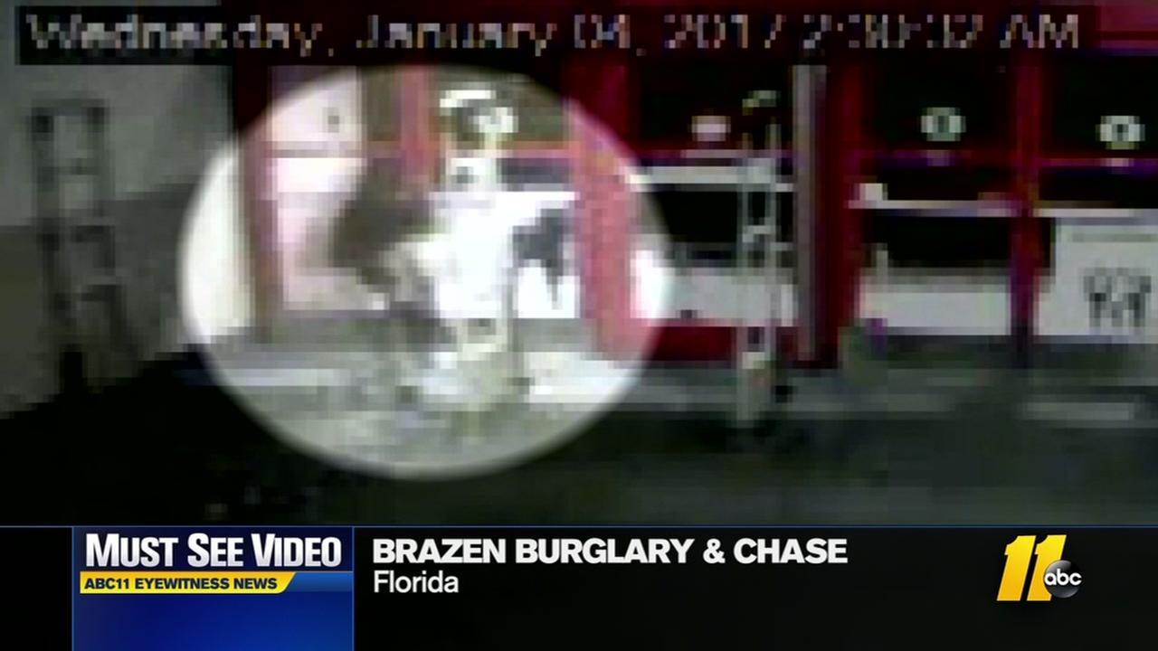 Burlgars lead police on chase