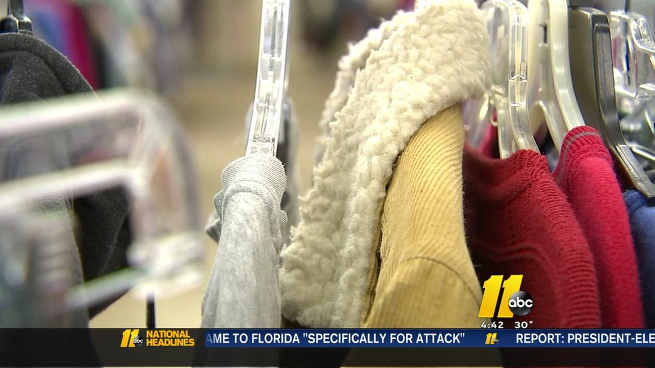 Durham Rescue Mission Thrift Store giving out warm clothes to those in need