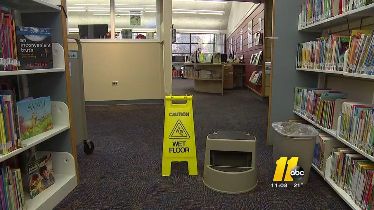 Burst pipes affect Fayetteville library