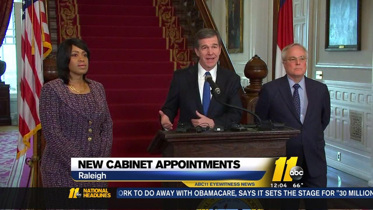 Gov. Roy Cooper announces new cabinet appointments