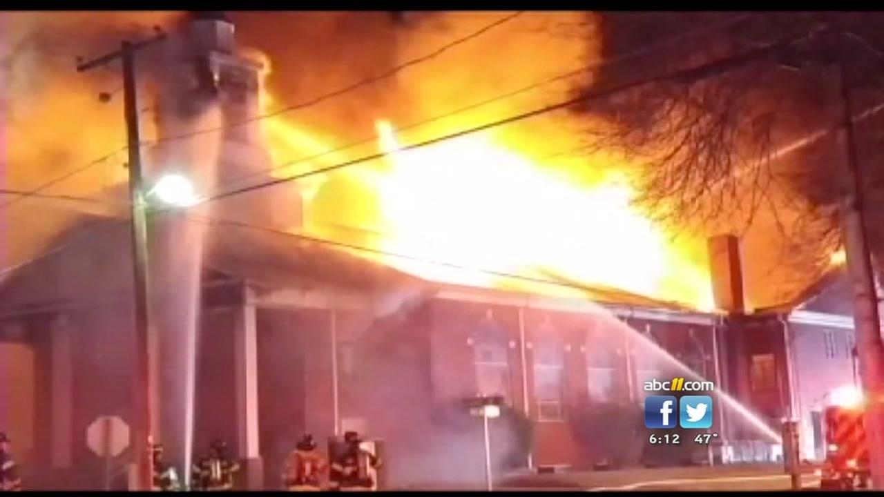 Firefighters battle massive Kannapolis church fire