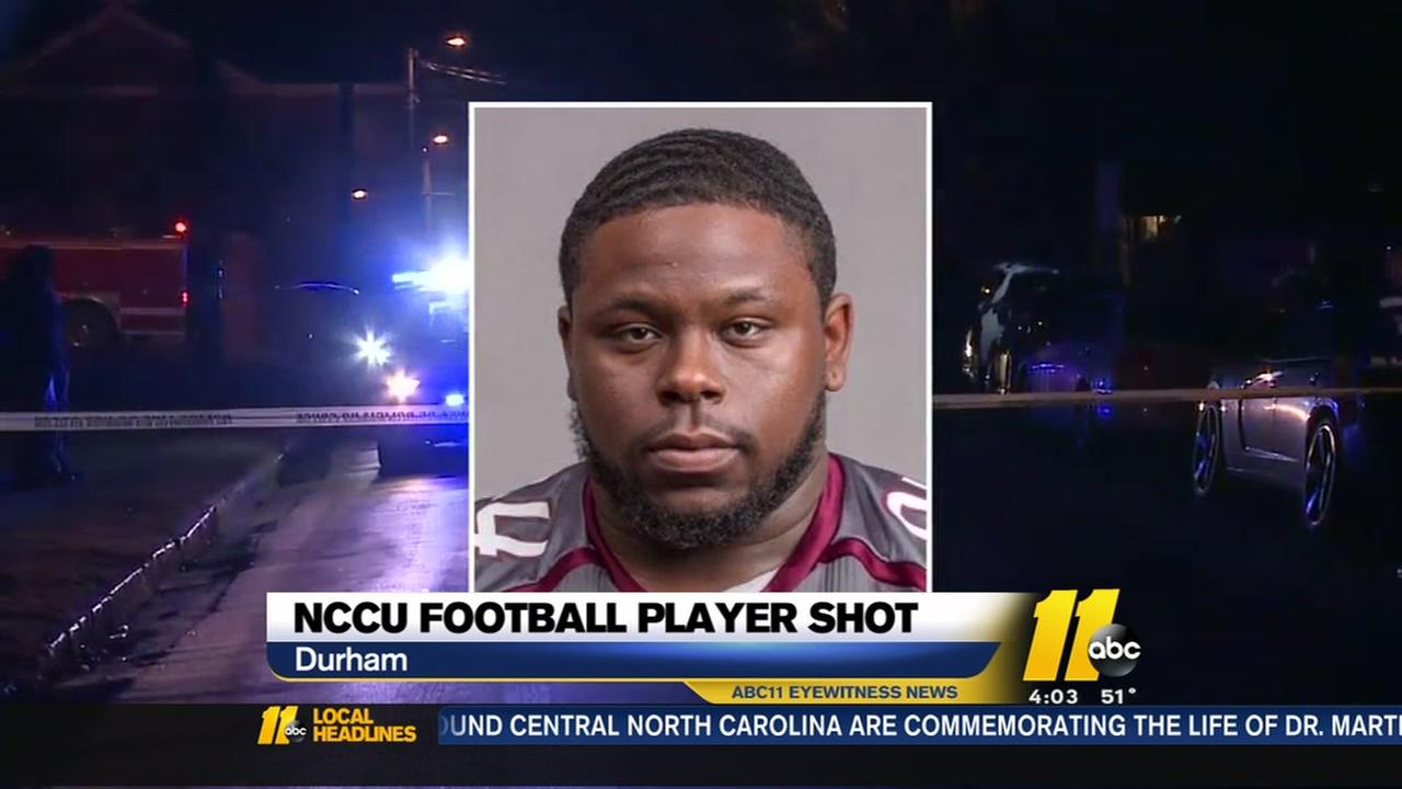 NCCU football players shot