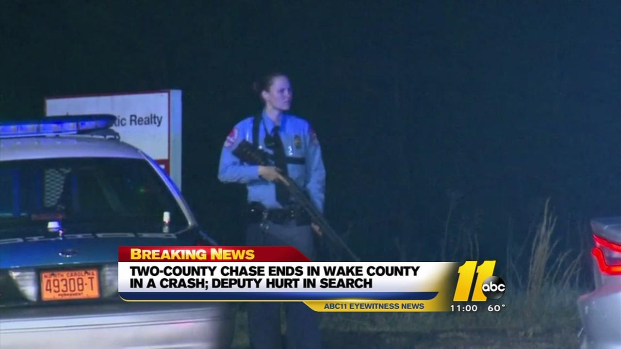 Two-county chase ends in crash