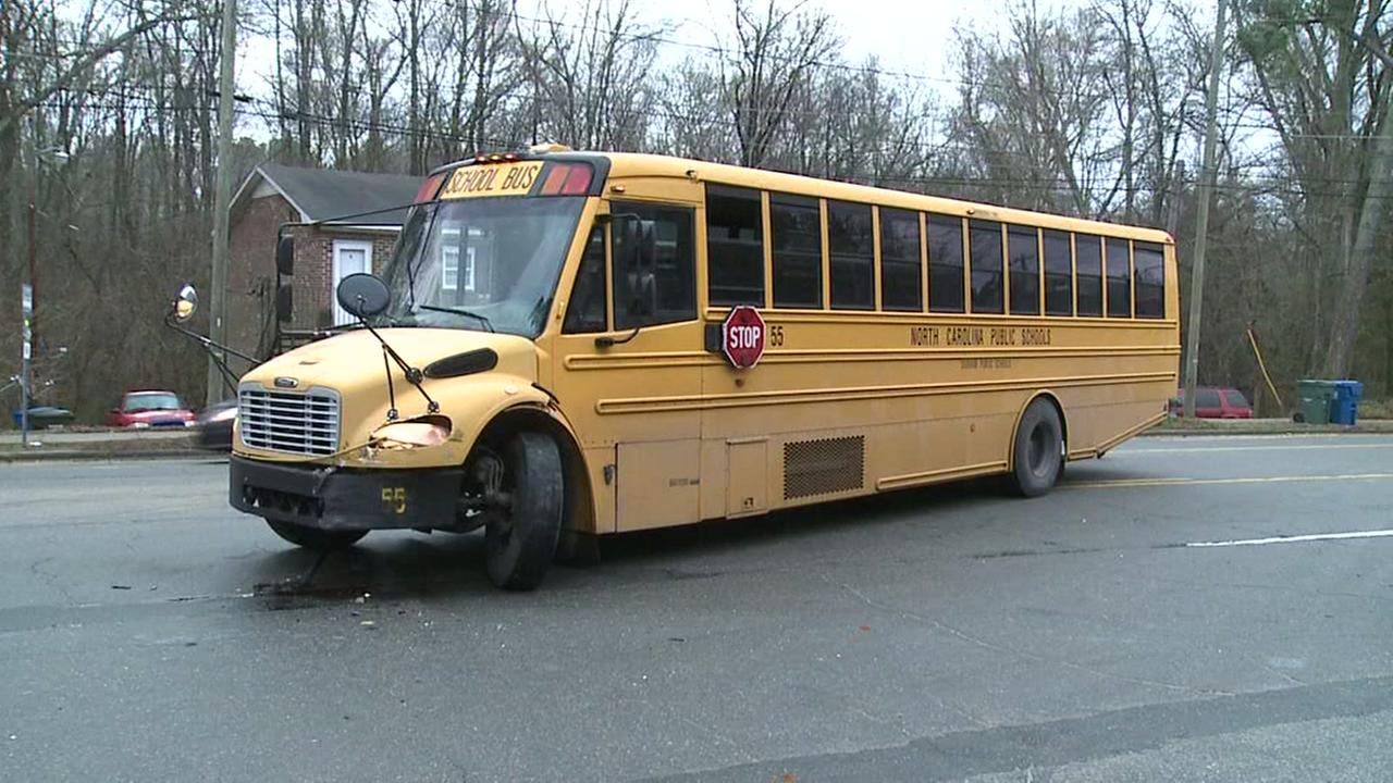 School bus involved in accident in Durham