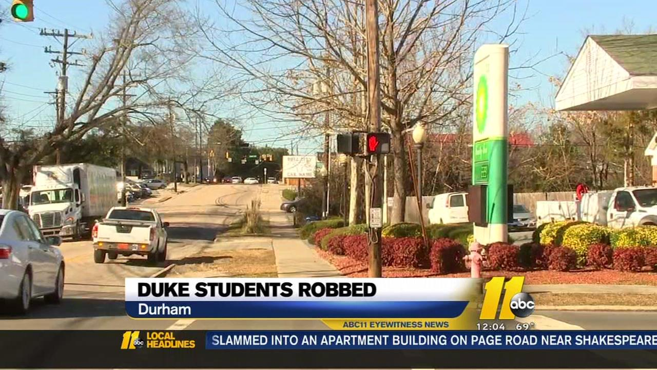 Durham police investigate after 2 Duke students robbed