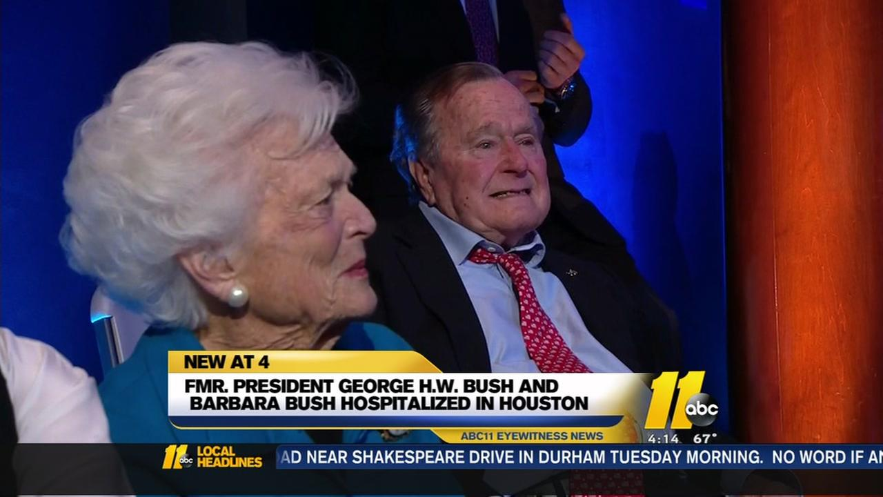 George H.W. Bust and Barbara Bush hospitalized