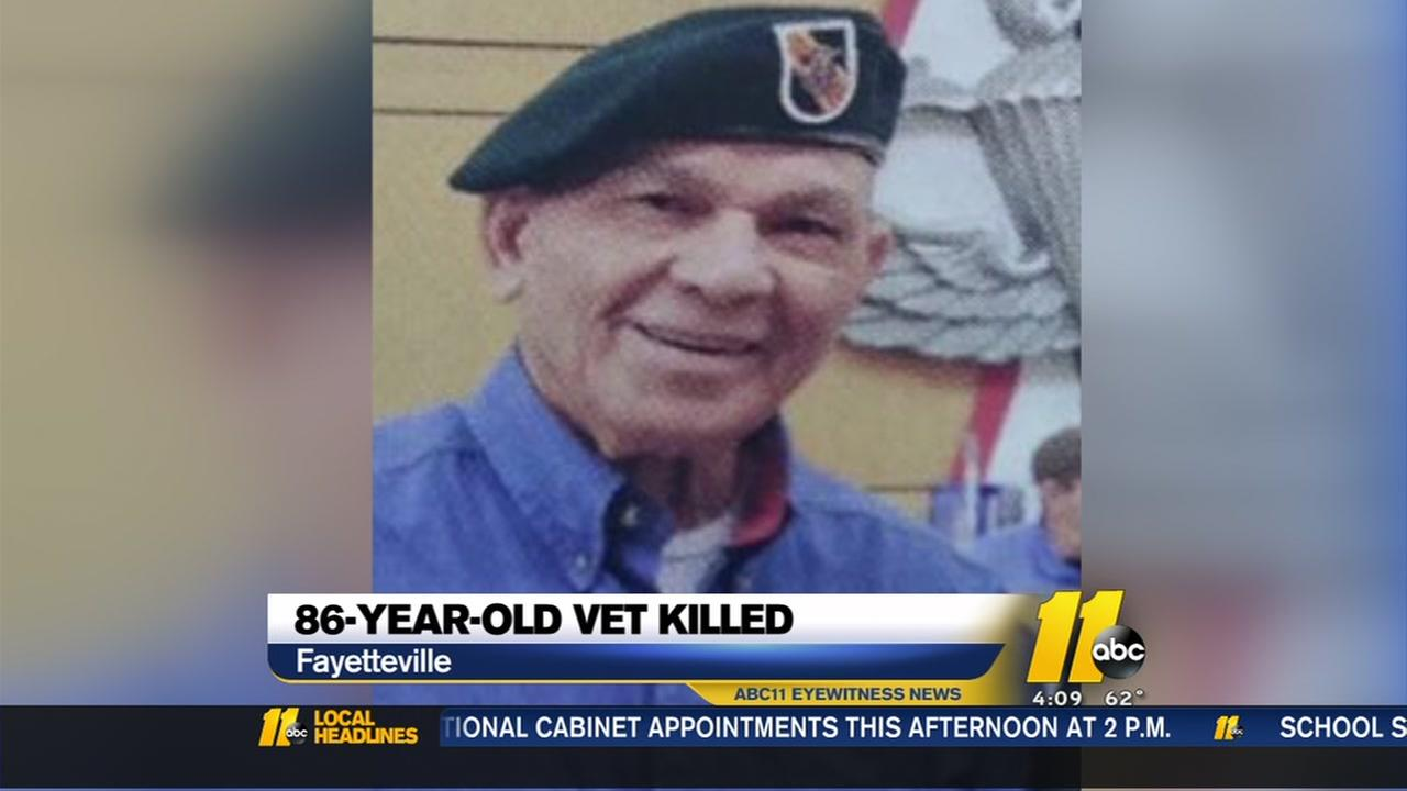 Elderly veteran killed in Fayetteville