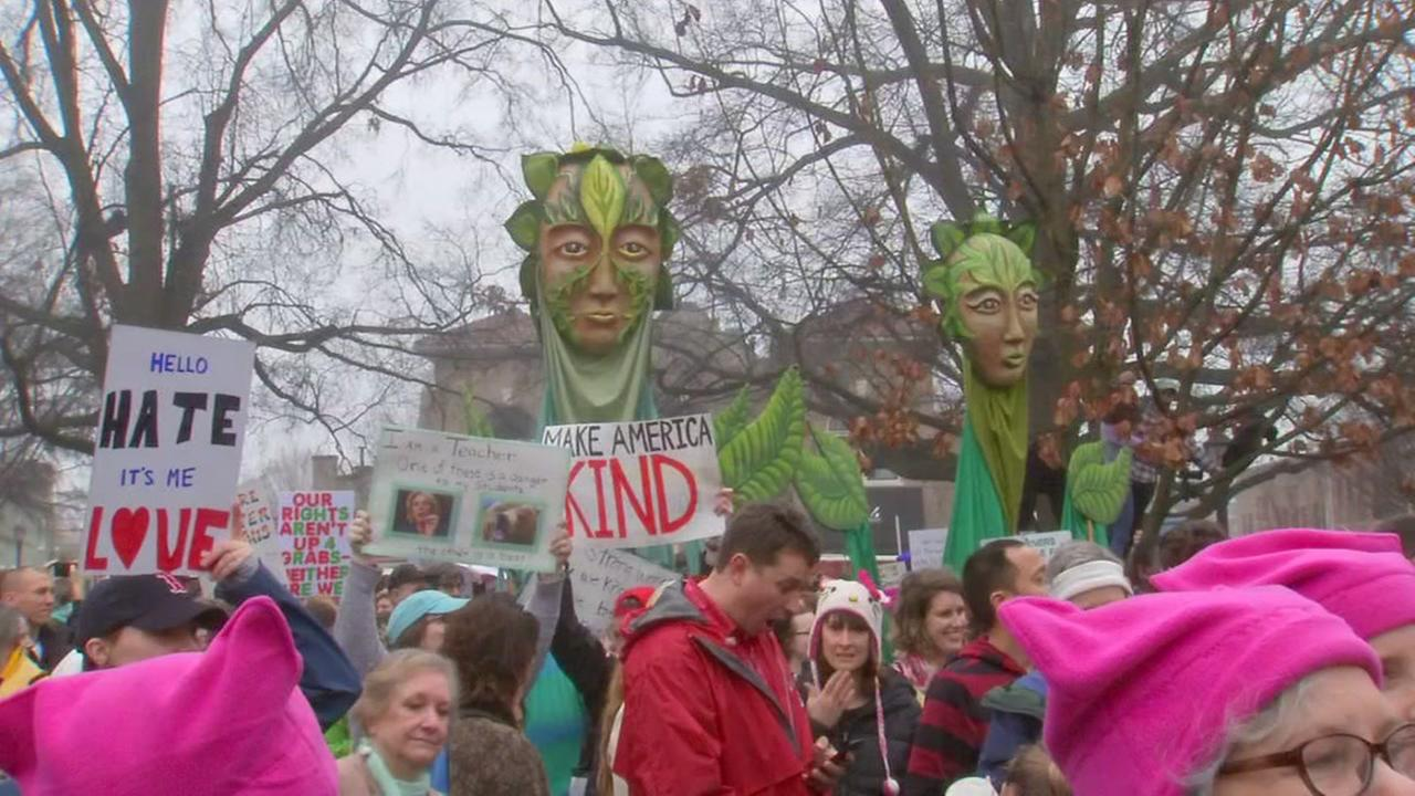 Tens of thousands of women protest in NC