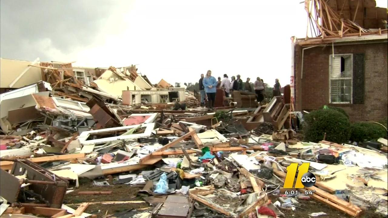 16 dead at violent storms rock the South