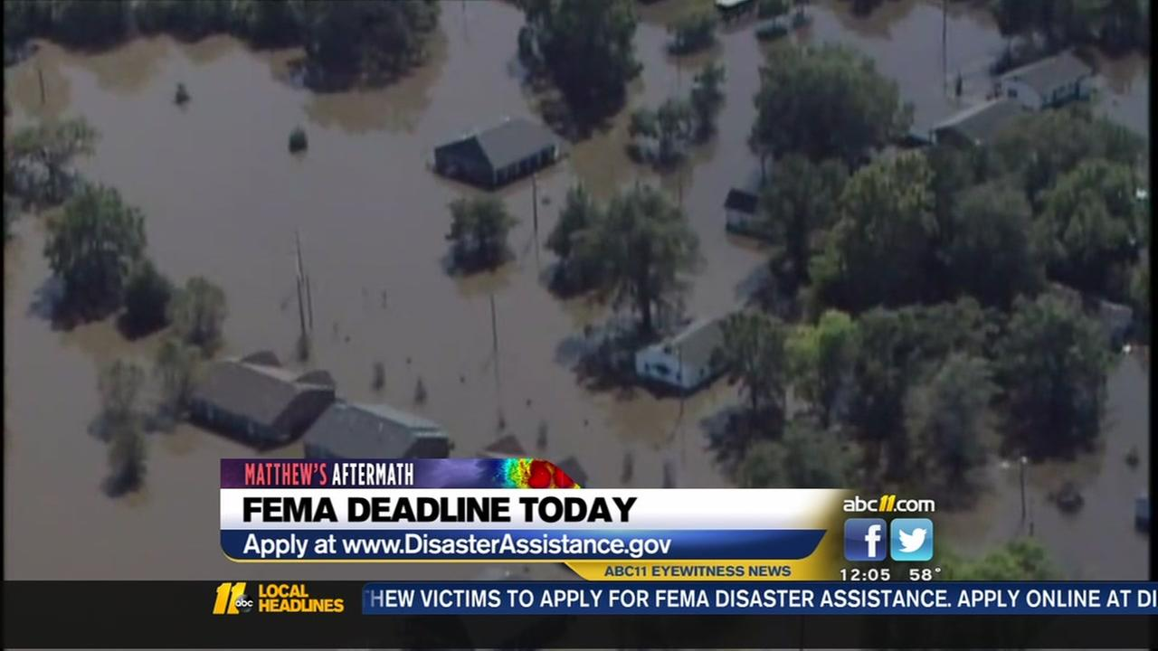 FEMA deadline is today