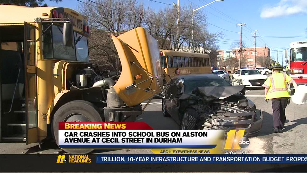 School bus crash in Durham