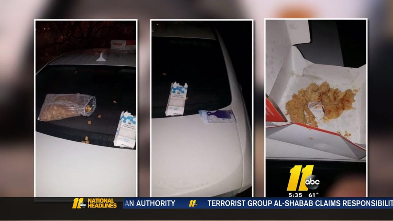 Student believes trash left on car racially-motivated