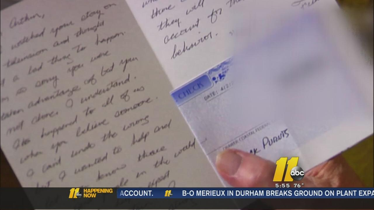Generous ABC11 viewer helps lottery victim