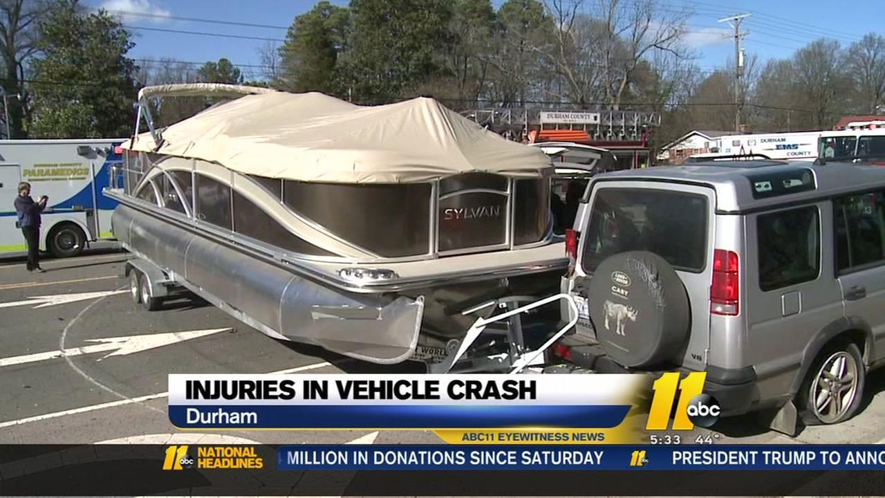 Injuries in Durham vehicle crash