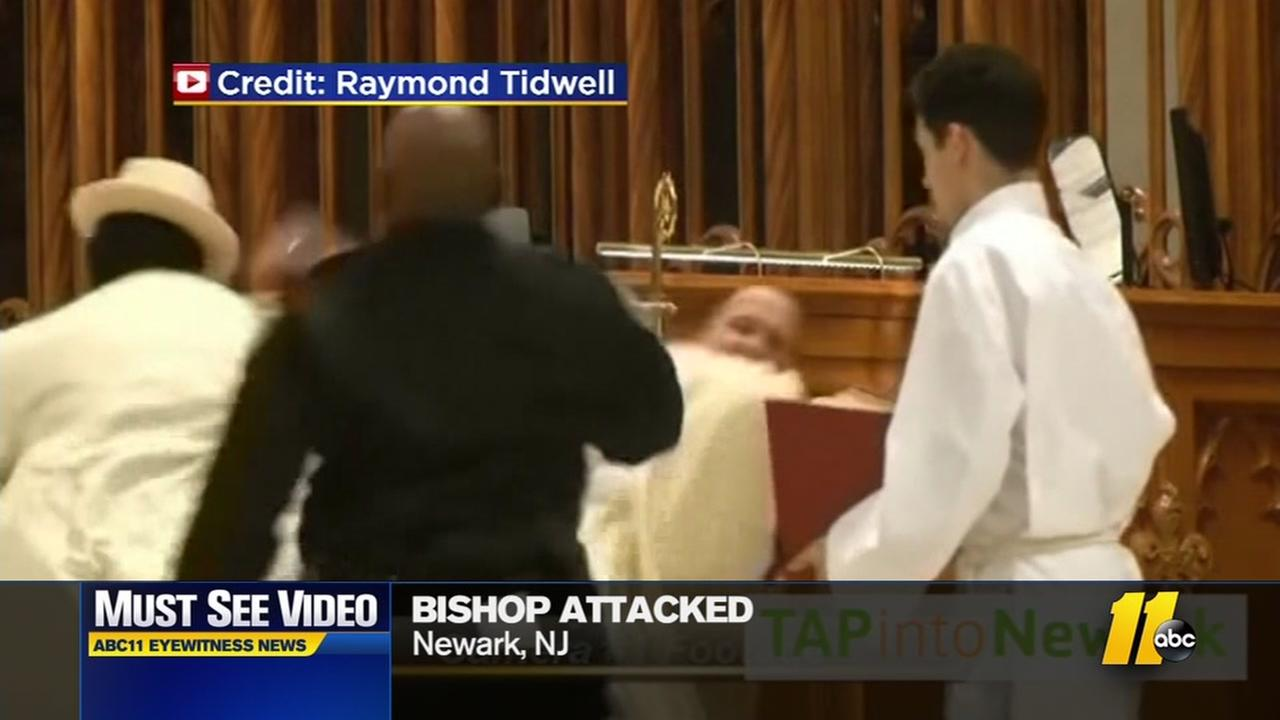 Must-see video: Man punches bishop during Mass
