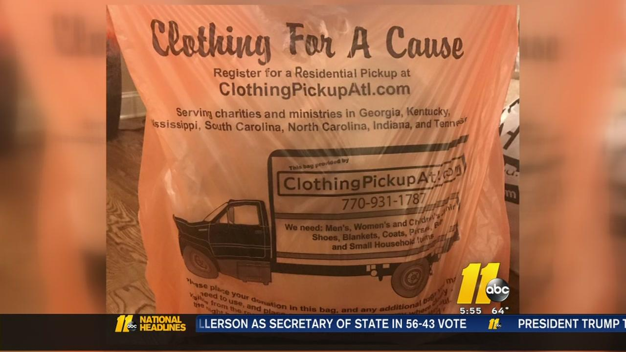 Orange bags ask residents for donations