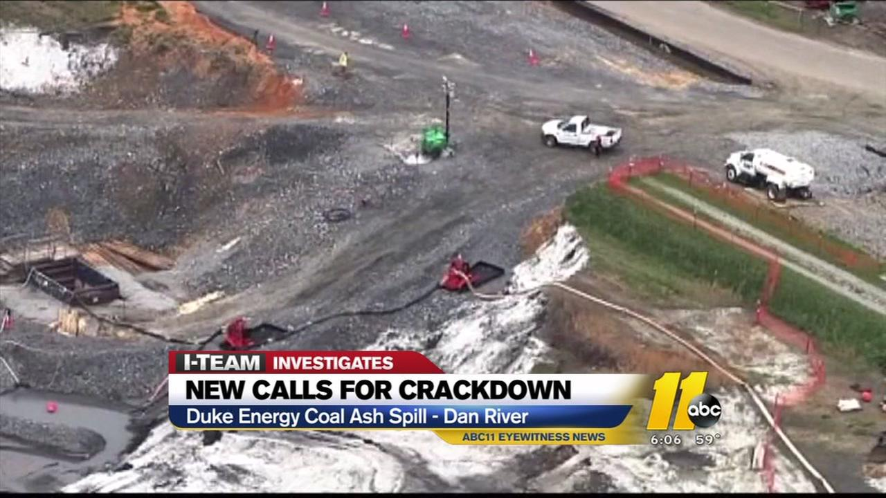 New calls for crackdown on coal ash spill