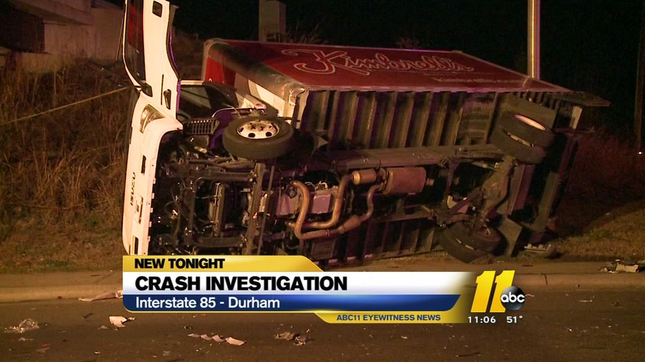 Crash investigation on I-85 in Durham