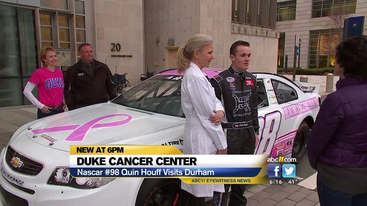 NASCAR driver Quin Houff visits Durham