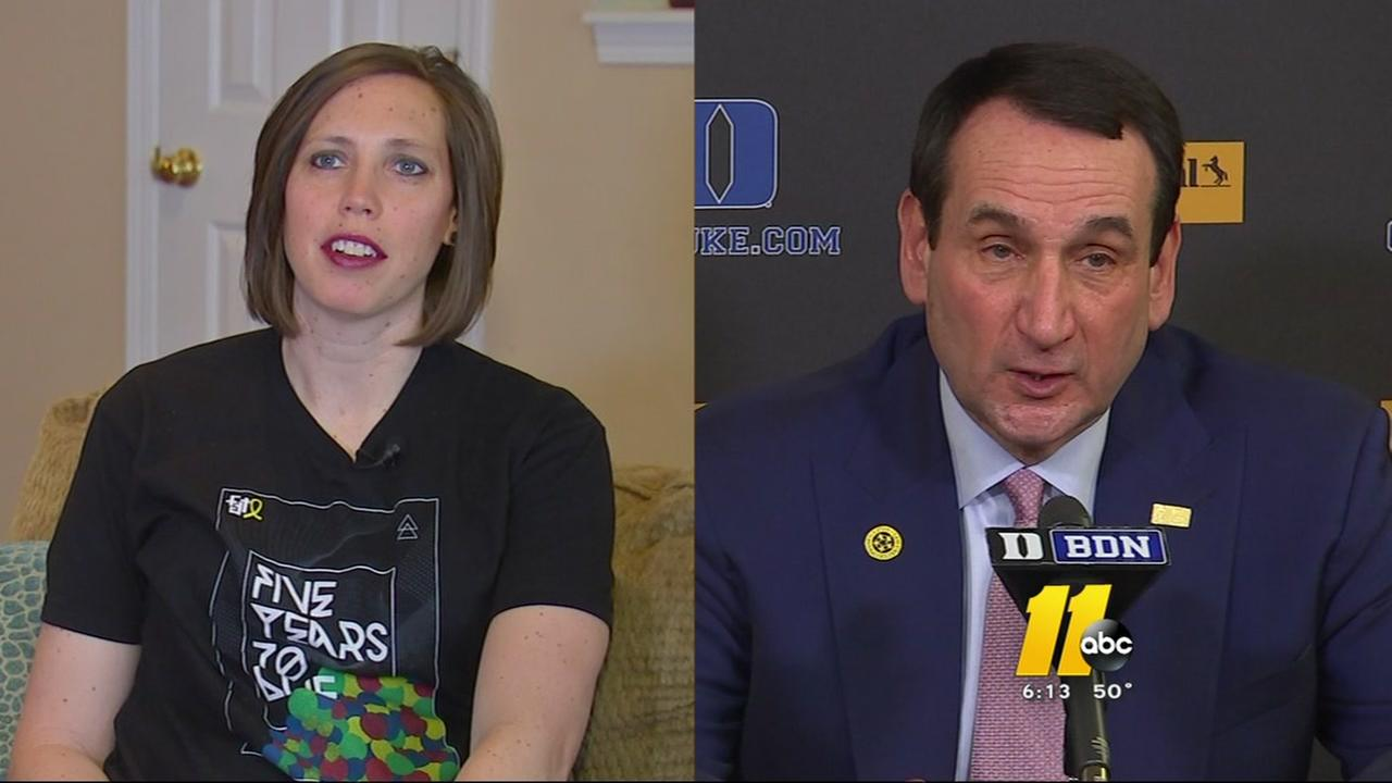 Coach K grants cancer patients wish