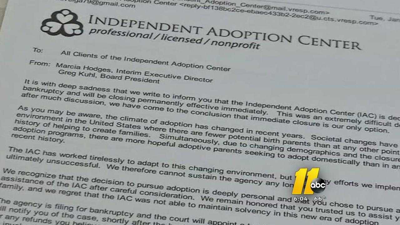 Adoption center bankruptcy shatters dreams