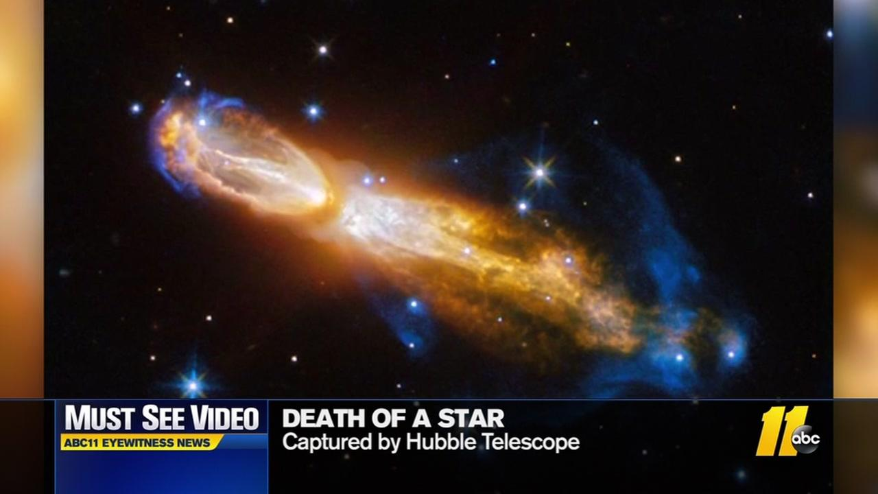 Hubble Telescope catches death of a star