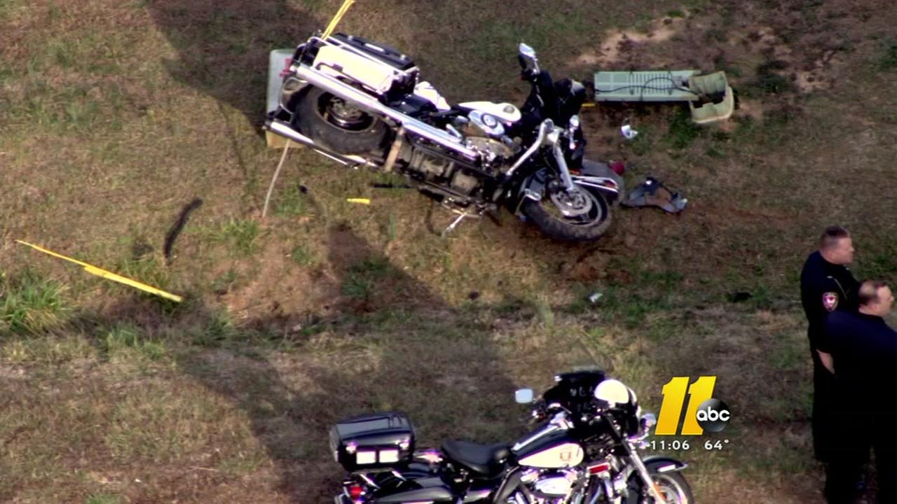 Three law officers hurt in motorcycle crashes