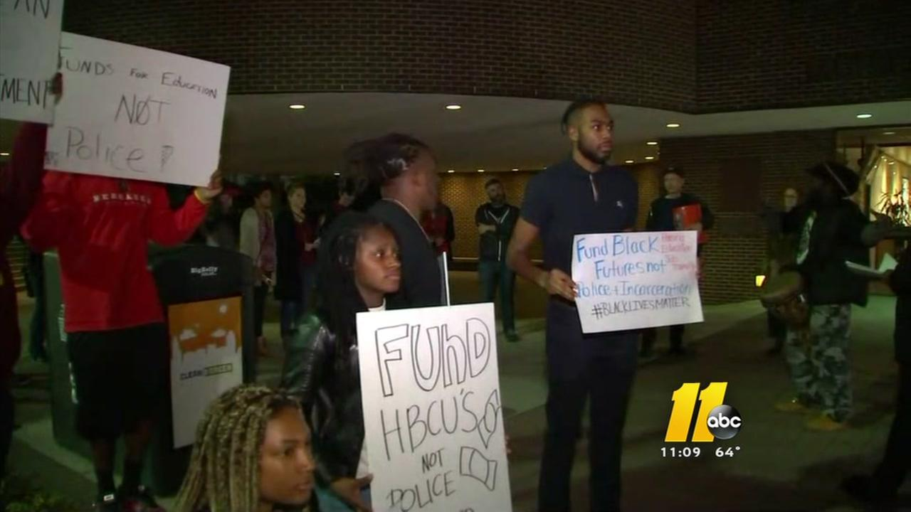 Shaw students protest idea of campus substation
