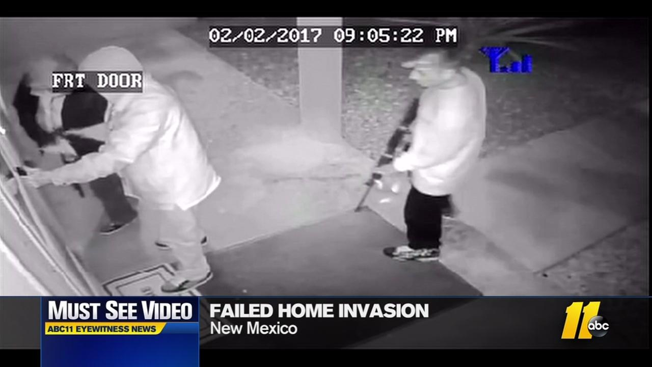 Failed home invasion caught on camera