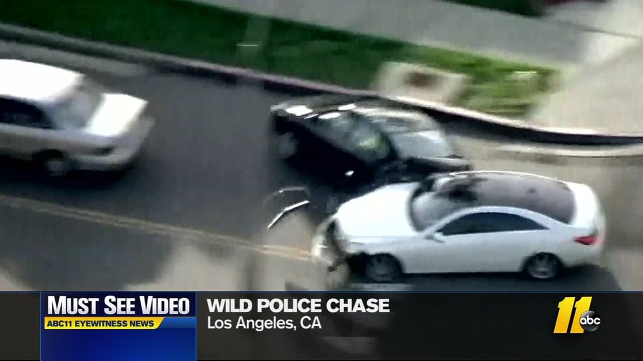 Wild police chase in Los Angeles